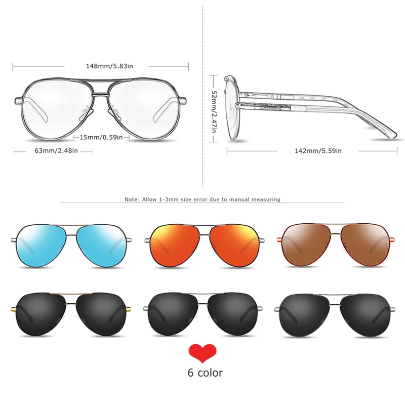 Stylish Sunglasses With Aluminium Frame