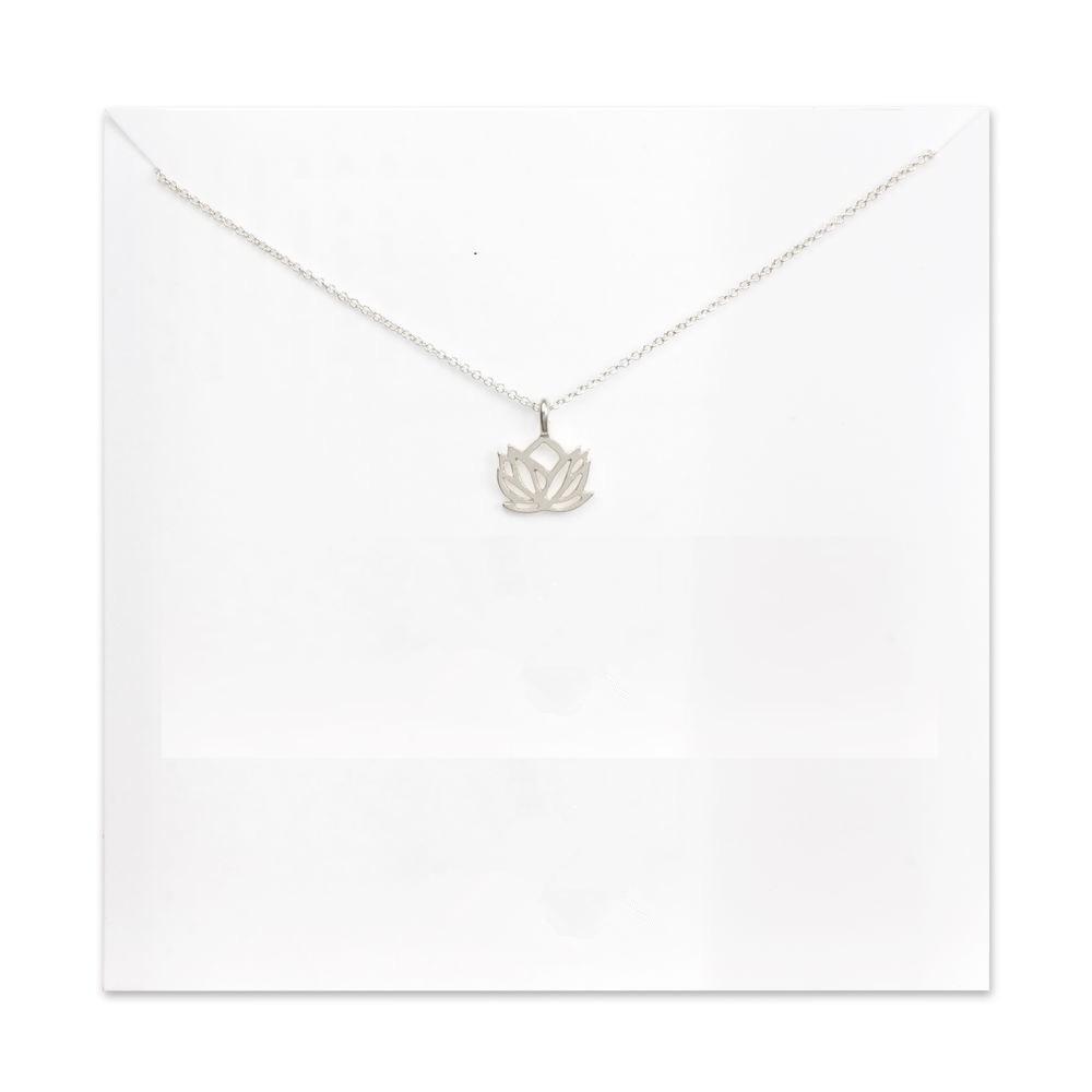 Women's Lotus Pendant Necklace