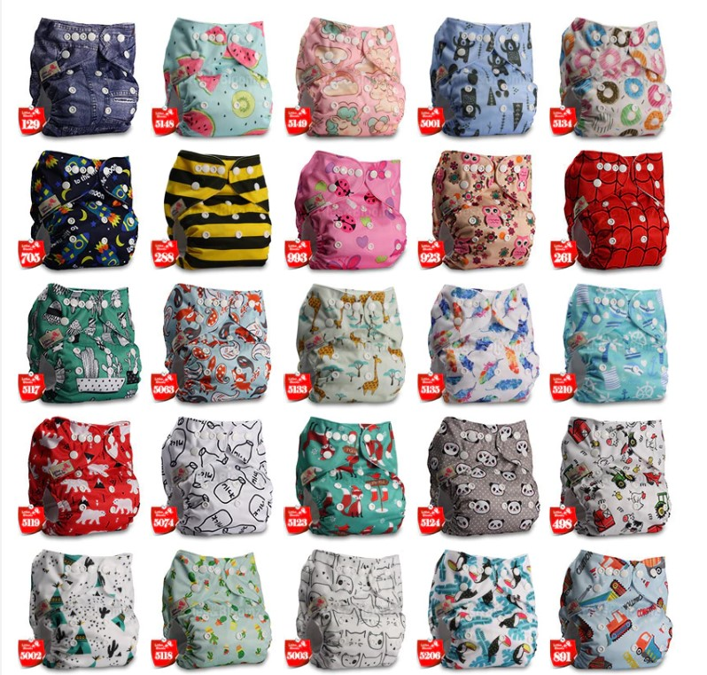 Baby's Printed Washable Diaper