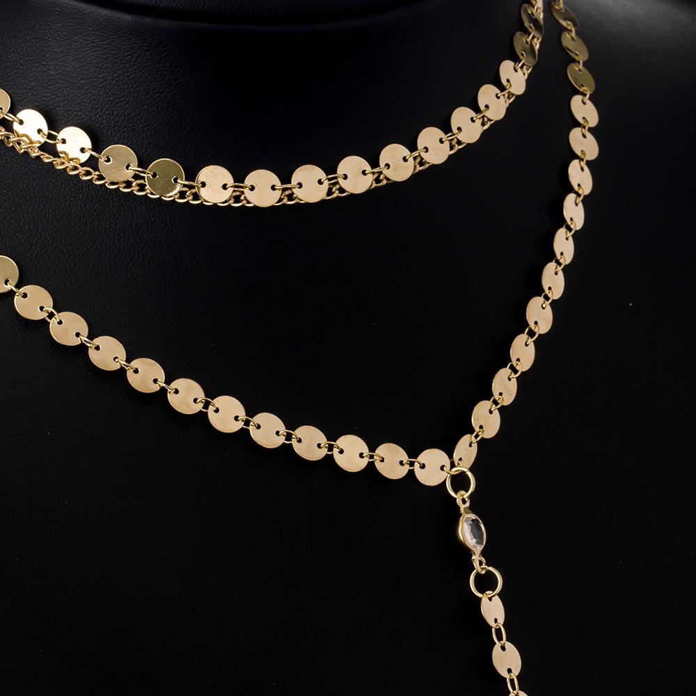 Women's Layered Gold Plated Necklace