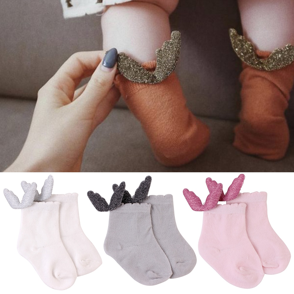 Cute Soft Cotton Socks with Wings