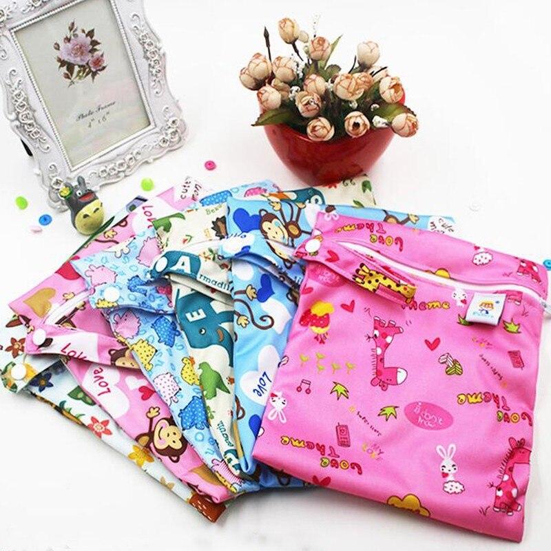 Reusable Colorful Printed Zipper Baby Diaper Bag