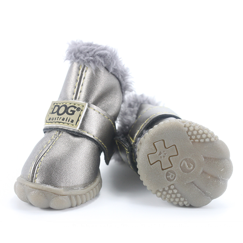 Dog's Waterproof Winter Shoes Set