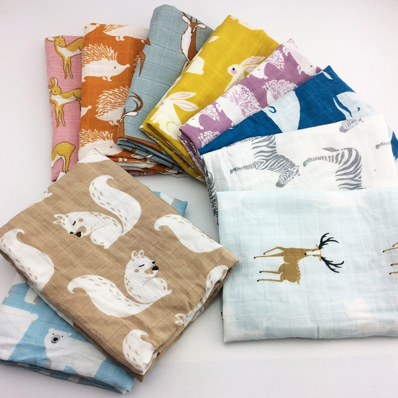 Animals Printed Soft Organic Cotton Multipurpose Towel