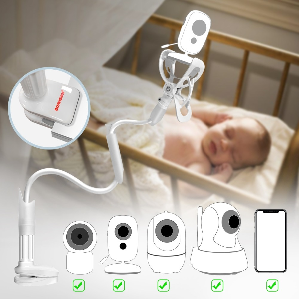 Portable Wired White Plastic Baby Camera