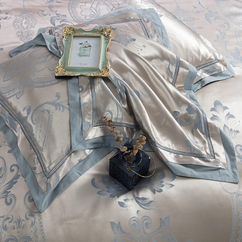 Luxury Silk Satin Bedding Set 6 Pcs