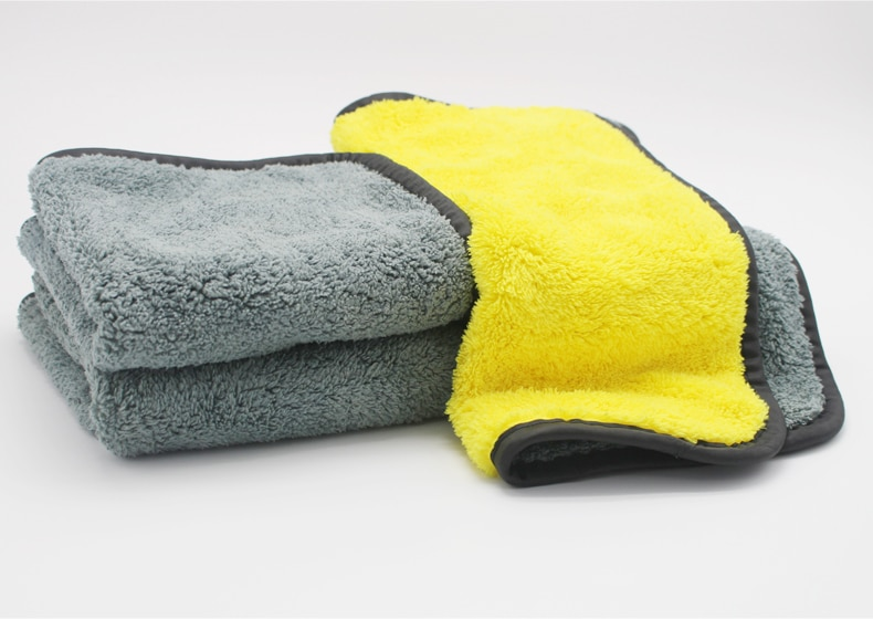 Double Layer Microfiber Car Cleaning Cloth