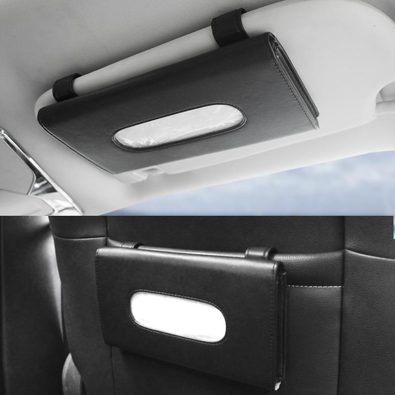Car Sun Visor Mounted Tissue Box